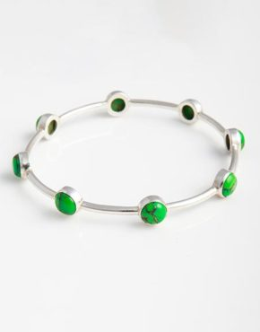 sterling-silver-bangle-with-green-mojave-turquoise-gemstones-bb7f
